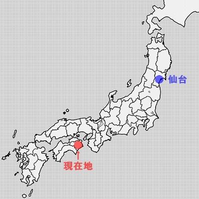 徳島県地図(徳島市周辺)