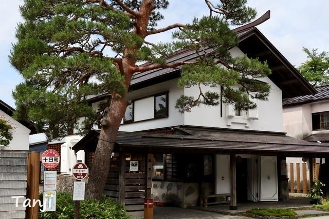 05 96 山形県金山町、金山の町並み、大堰、画像  Yamagata Kaneyama.jpg