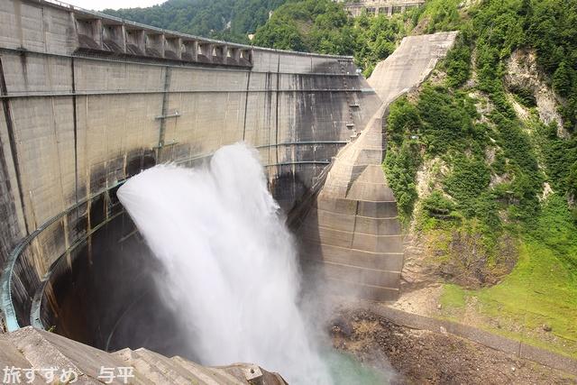 黒部ダム・トローリーバス・富山県立山町・画像・旅すずめ・与平