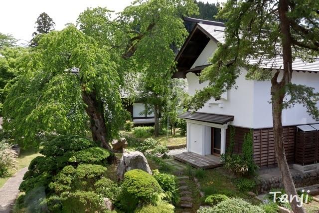 13 96 山形県金山町、金山の町並み、大堰、画像  Yamagata Kaneyama.jpg