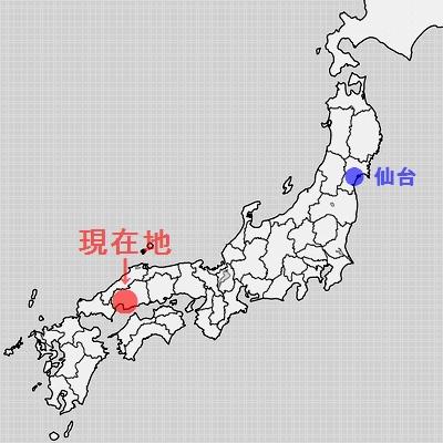 地図、広島市。 旅すずめ ~デジカメ片手の旅ブログ~