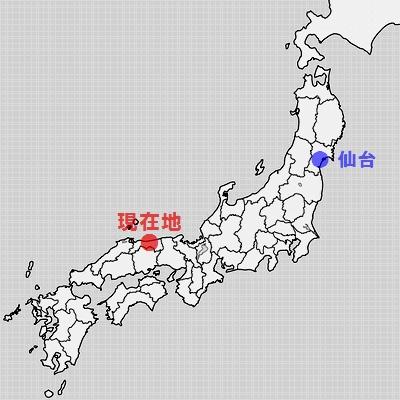 鳥取県地図・鳥取市倉吉市周辺等