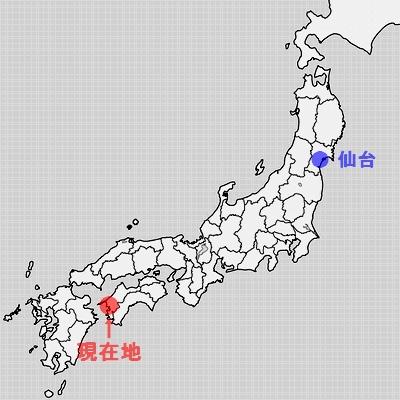 愛媛県宇和島周辺地図